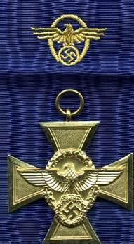 Аверс медали за 25 лет выслуги.