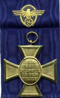 Реверс медали за 25 лет выслуги.