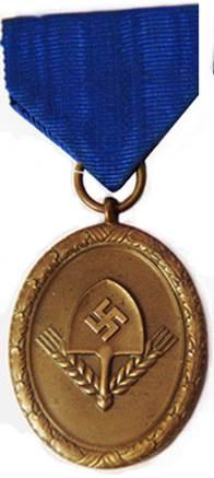 Аверс медали 4 года выслуги для мужчин.