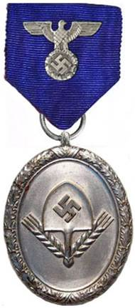 Аверс медали 18 выслуги для мужчин.