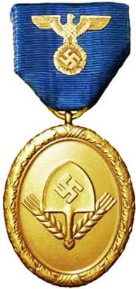 Аверс медали 25 выслуги для мужчин.