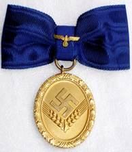 Аверс медали 25 лет выслуги для женщин.