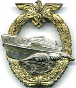Знак торпедных катеров образца 1943 года.