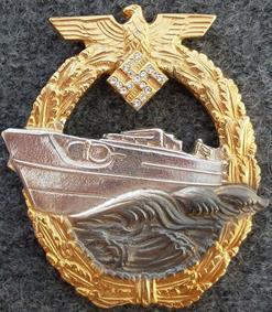 Знак торпедных катеров с бриллиантами.