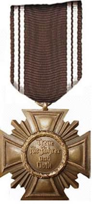 Реверс медали за 10 лет службы в НСДАП.