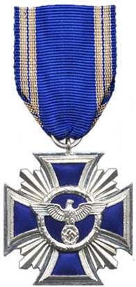 Аверс медали за 15 лет службы в НСДАП.