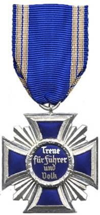 Реверс медали за 15 лет службы в НСДАП.