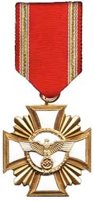 Аверс медали за 25 лет службы в НСДАП.