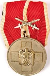 Вариант медали с мечами.