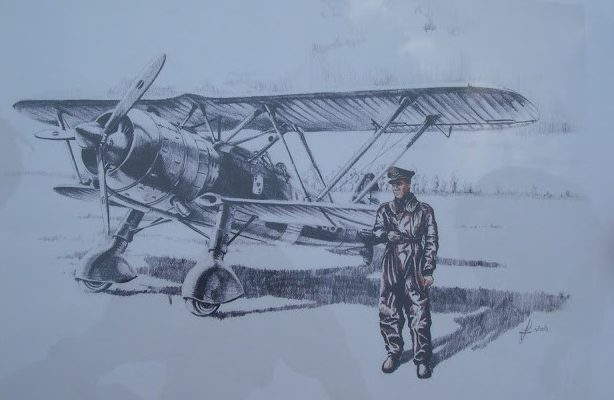 Férenc Vincze. Истребитель Fiat CR.42bis «Falco».