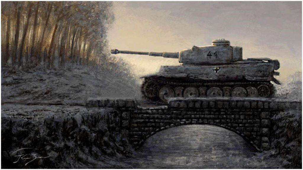 Kresz Bence. Танк «Тигр» на мосту