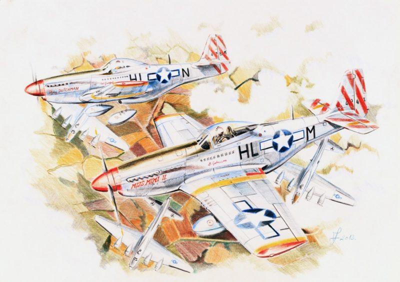 Férenc Vincze. Истребитель P-51D