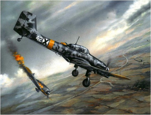 Chernev Marii. Пикирующий бомбардировщик Ju-87D-5