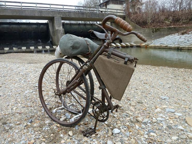 Велосипед «Бьянки» в сложенном виде