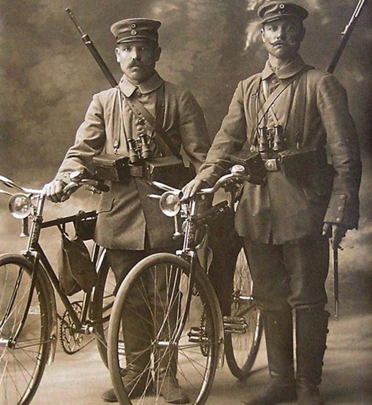 Самокатчики Первой мировой.