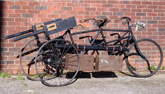 Трехколесные велотачанки с двумя пулеметами