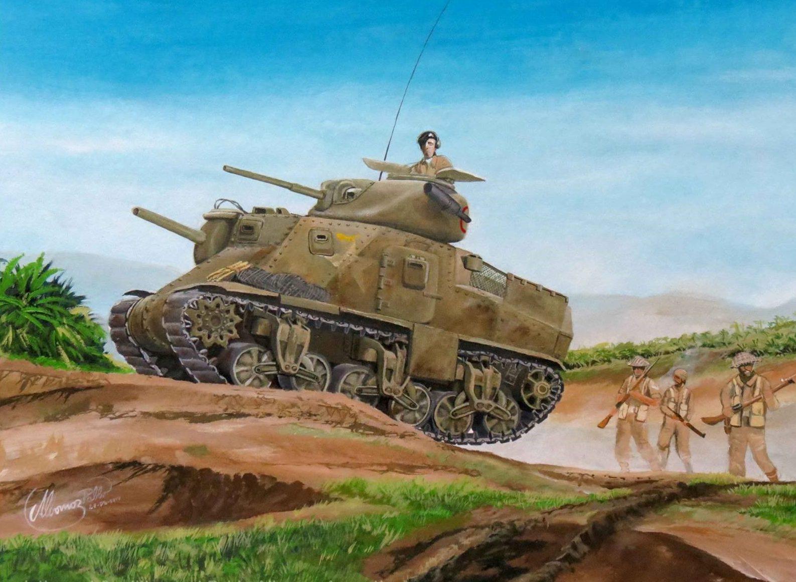 Albornoz Pablo. Танк М-3 Grant Mk1