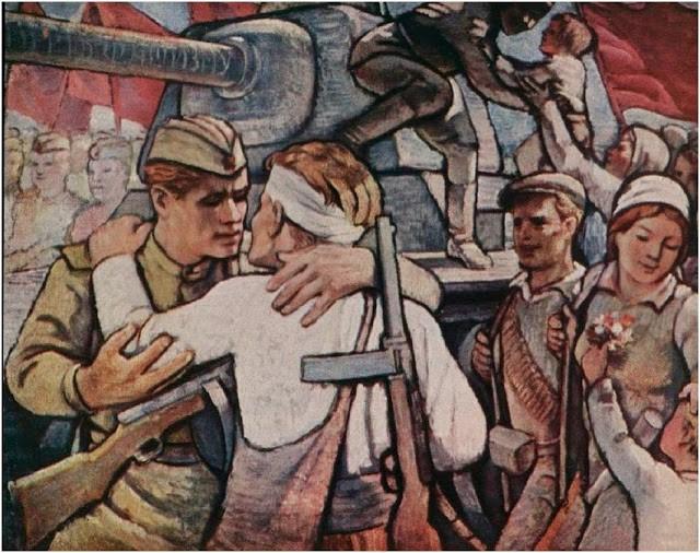 Venev Stoyan. Встреча Советской Армии