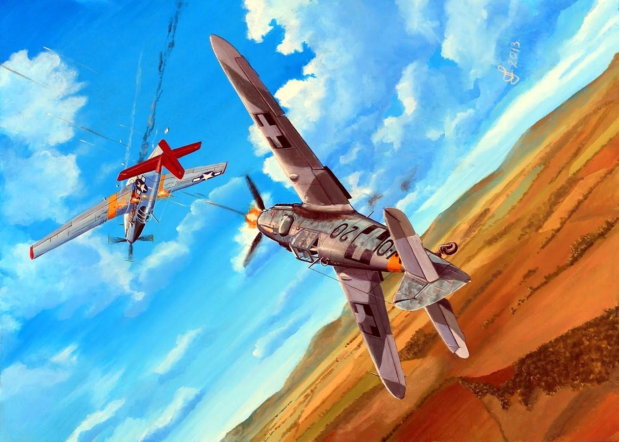 Férenc Vincze. Истребитель Bf-109