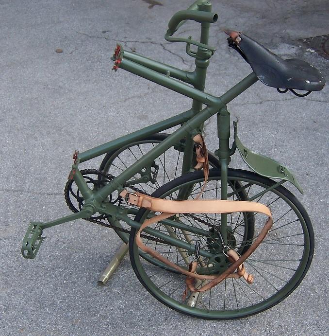 Складной велосипед «Bianchi» польских самокатчиков.