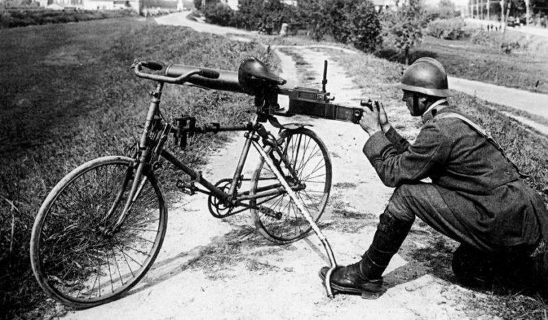 Ручной пулемет на базе велосипеда