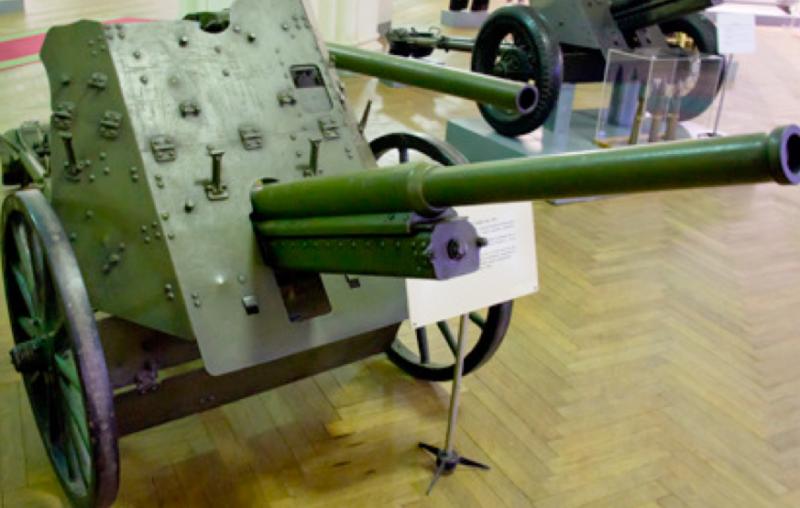 Противотанковая 45-мм пушка обр.1932 г. (19-К) на деревянных колеса