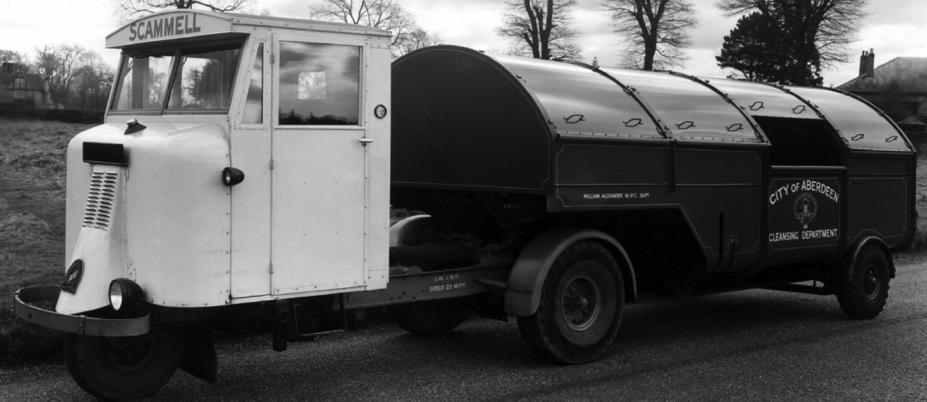 Седельный тягач Mechanical Horse МН-6 с грузовой платформой
