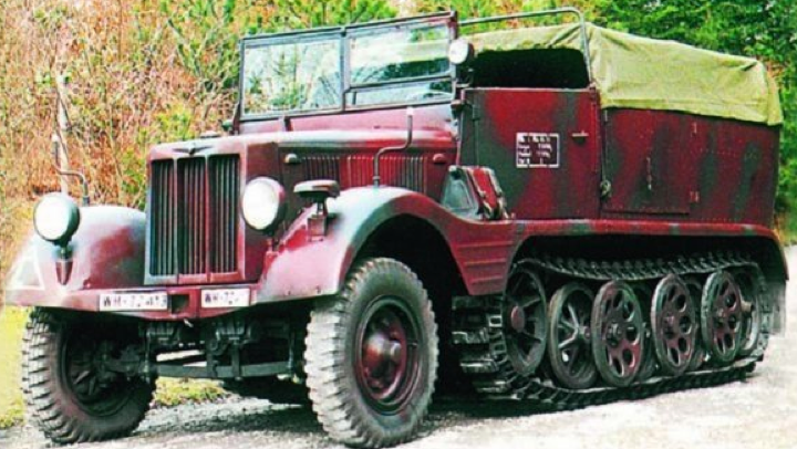 Полугусеничный тягач Borgward HLkl6 (Sd.Kfz.11)