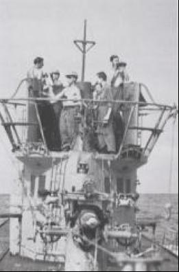 Антенны РЛС FuMB-1 (Metox) на подлодке