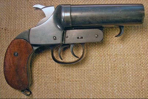 Двухствольный сигнальный пистолет Nambu Early Kayaba Double Flare Pistol
