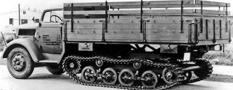 Полугусеничный тягач Sd.Kfz.3 (Opel-Maultier)