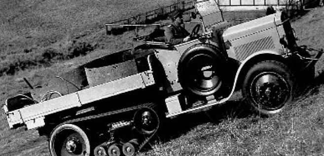 Полугусеничный автомобиль-тягач Triangel-Kornbeck 3t