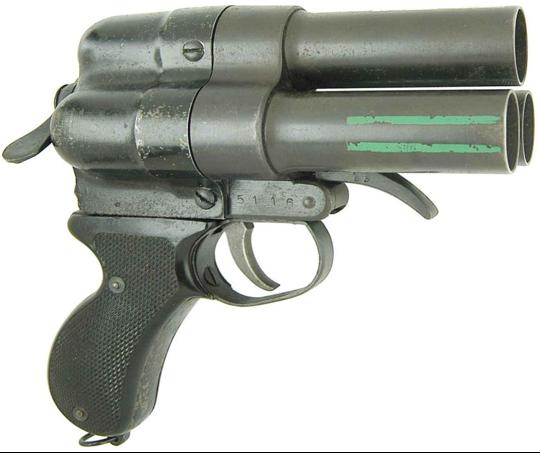 Трехствольный сигнальный пистолет Nambu Type 90 Triple Barrel Flare