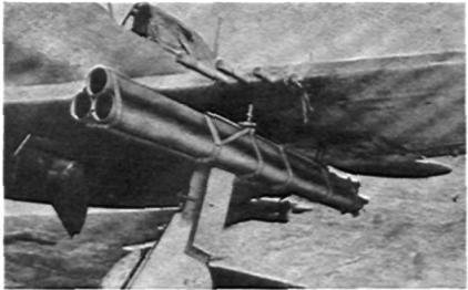 Авиационная пусковая установка снарядов М-10. 4,5 дюймовая авиационная ракета М-10 имела те же тактико-технические данные, что и М-8