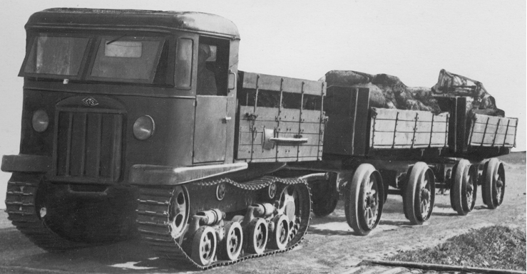 Гусеничный артиллерийский тягач СТЗ-5-НАТИ