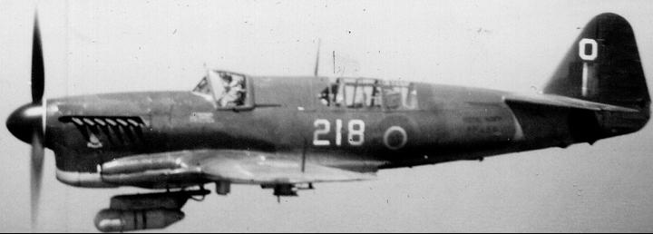РЛС AN/APS-4 под фюзеляжем самолета