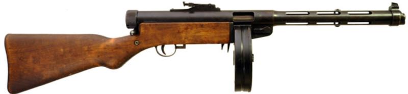 Пистолет-пулемет Suomi-КР M-31 с барабанным магазином на 71 патрон