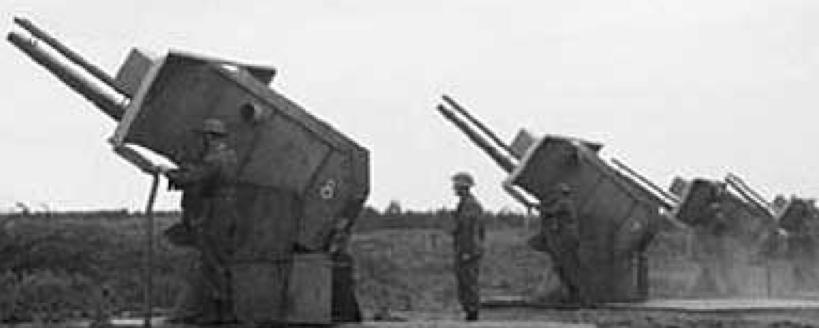 Двухрельсовые наземные пусковые установки с ракетами UP-3