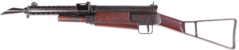 Пистолет-пулемет STEN Mk-I со сложенной передней ручкой