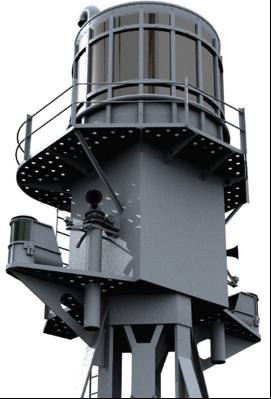 Модель антенны корабельной РЛС Type-273
