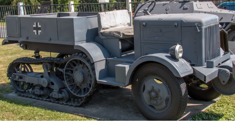 Легкий артиллерийский тягач Citroen Kegresse Р-14