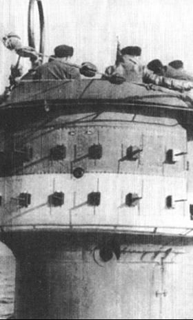 Антенны корабельной РЛС FuMO-29 (FMG-41G) на подлодке