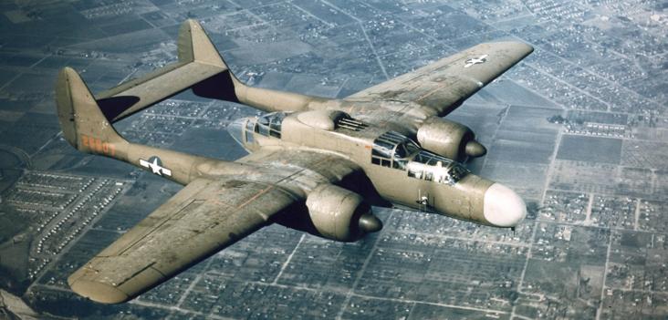 Истребитель Р-61, оборудованный РЛС SCR-720