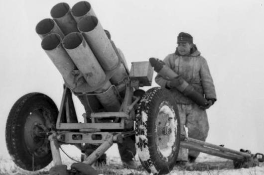 Пусковая установка 15-сm Nebelwerfer 41