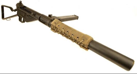 Бесшумный пистолет-пулемет STEN Mk-IIS