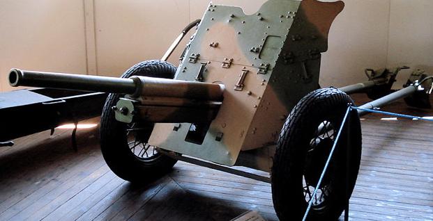 Противотанковая 45-мм пушка обр.1932 г. (19-К) на резиновом ходу