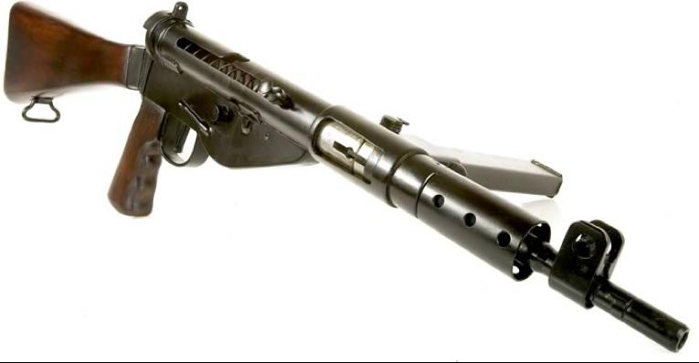 Пистолет-пулемет STEN Mk-V без передней ручки