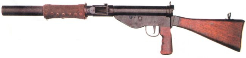 Бесшумный пистолет-пулемет STEN Mk-VI