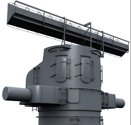 Модель антенны корабельной РЛС Type 284
