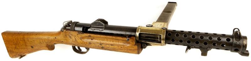 Пистолет-пулемет Lanchester Mk-1 с 50-зарядным магазином